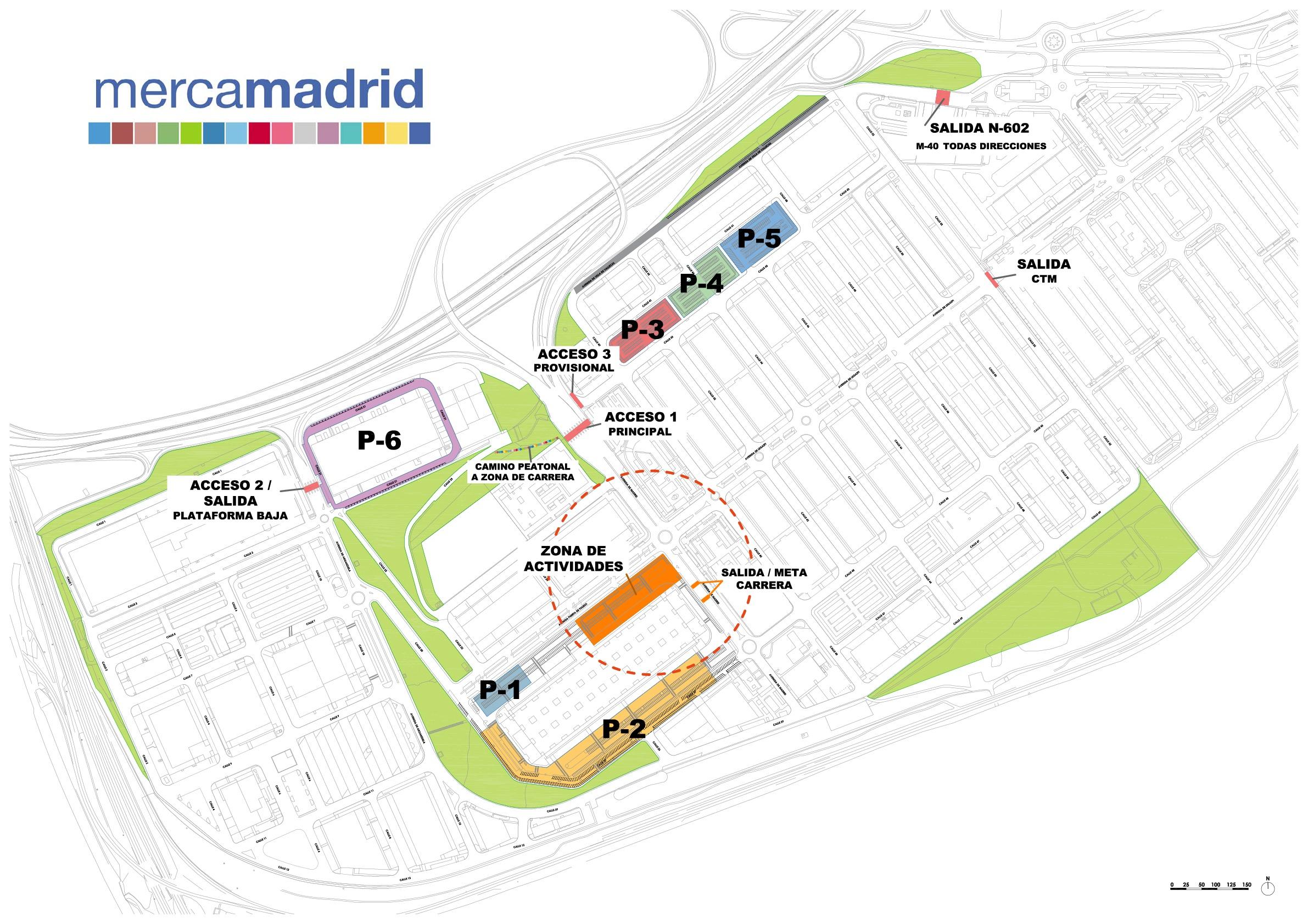 accesos y aparcamientos mercamadrid10k